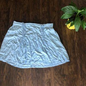 Chambray Mini Skirt
